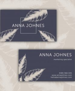 custom printed business card