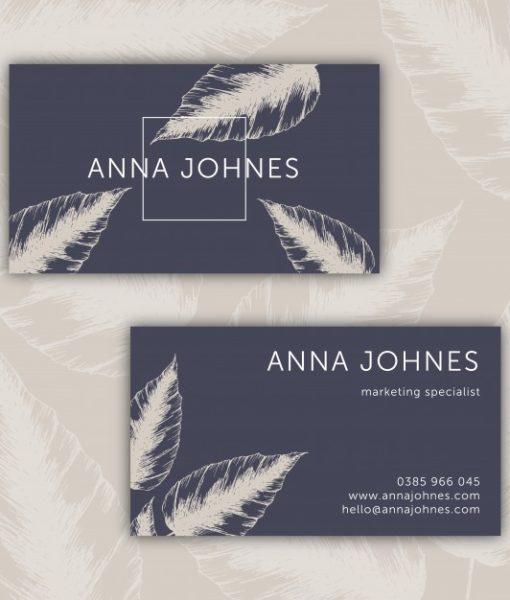 custom printed business card