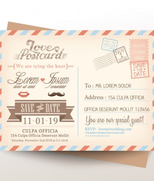 invitation postcard print
